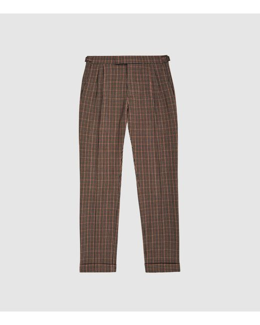 b1ed251be417 ... Reiss - Brown Jig - Check Trousers for Men - Lyst ...