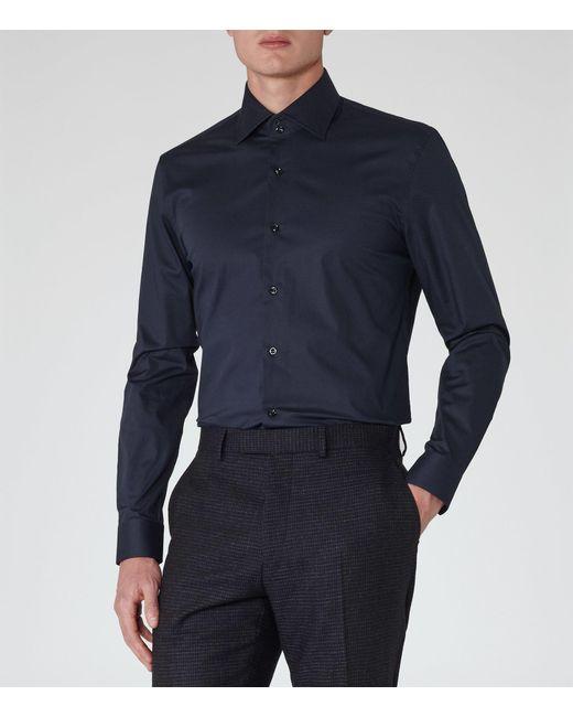 Reiss - Blue Zinc Slim Stretch Shirt for Men - Lyst