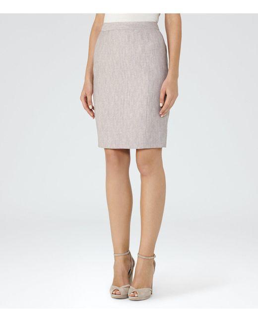 Reiss - Gray Virginia Skirt - Lyst
