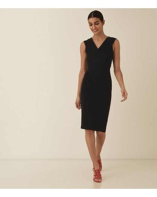 4f47799a759343 Reiss - Black Salvia - Knitted Bodycon Dress - Lyst ...