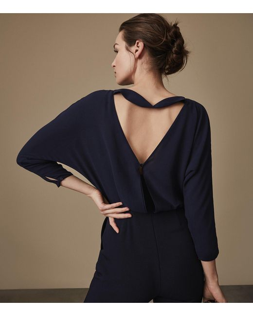 b4cfc7a0f7 Reiss Ania - Open-back Jumpsuit in Blue - Save 67% - Lyst