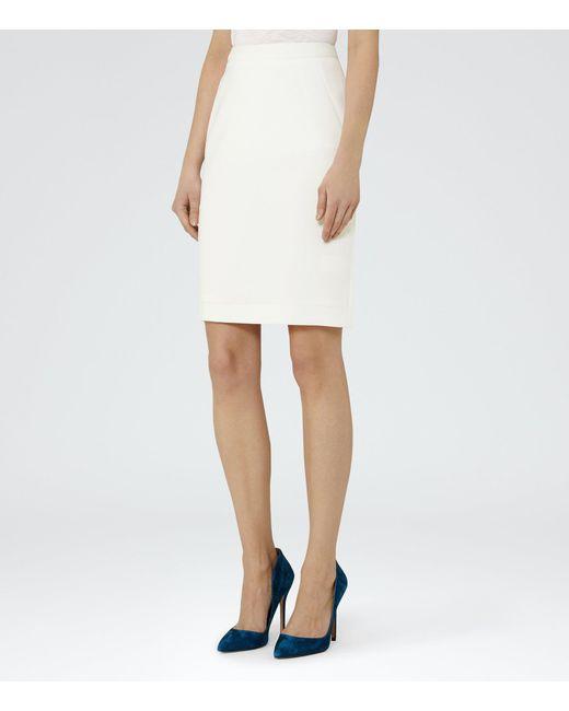 Reiss | White Myla Skirt | Lyst