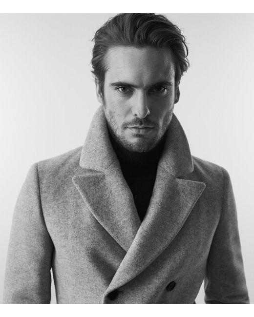efda005c1e9 Reiss Bogart - Double Breasted Peacoat in Gray for Men - Save 34% - Lyst
