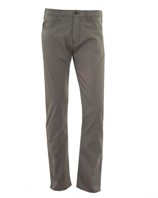Armani - Gray J45 Jeans, Regular Tapered Grey Denim for Men - Lyst