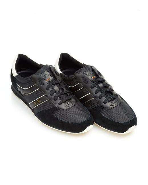 BOSS Orange   Orland_runn_ny Trainers, Side Stripe Black Sneakers for Men   Lyst