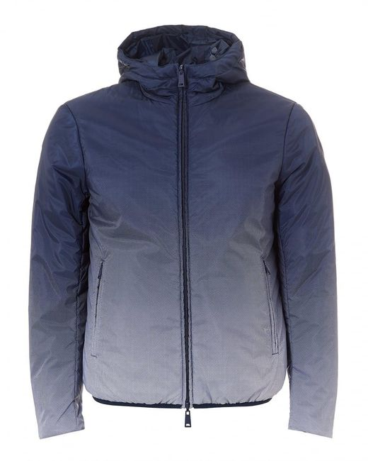 Armani Jeans - Faded Jacket, Reversible Hooded Navy Blue Jacket for Men - Lyst