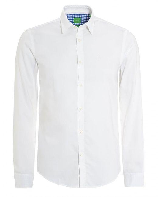 BOSS Green   C-buster Shirt, Regular Fit Fine Dot White Shirt for Men   Lyst