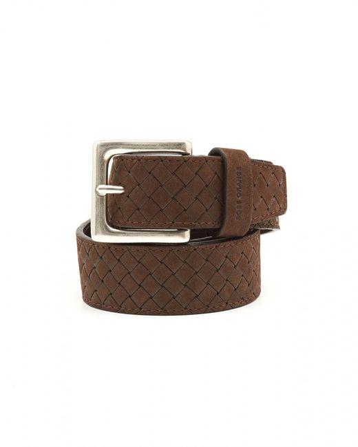 BOSS Orange | Brown Jemmino_sz35_wnem Braided Choco Belt for Men | Lyst