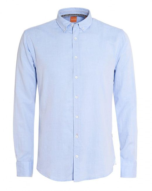 BOSS Orange | Epreppy Shirt, Slim-fit Sky Blue Cotton Shirt for Men | Lyst