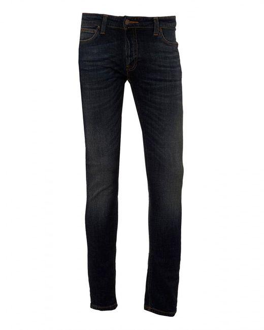 Nudie jeans Skinny Lin Jeans, Skinny Fit Dark Vint Denim ...