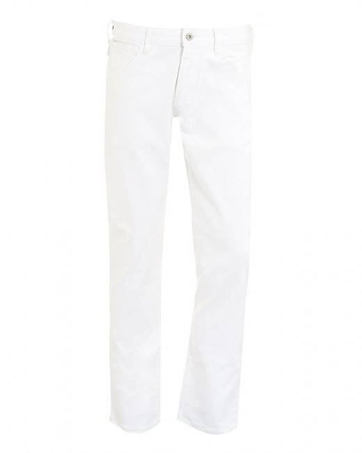 Armani Jeans - Jeans, White Slim Fit Comfort Stretch Denim for Men - Lyst