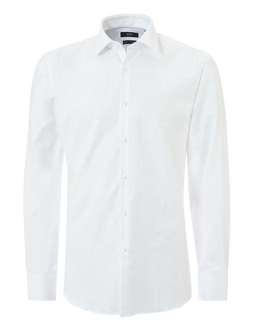BOSS - Jenno Small Texture Slim Fit White Shirt for Men - Lyst