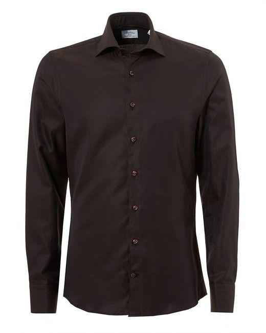 Stenstroms - Pin Dot Slimline Long Sleeve Brown Shirt for Men - Lyst