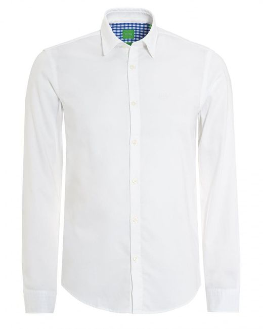 BOSS Green | C-buster Shirt, Regular Fit Fine Dot White Shirt for Men | Lyst