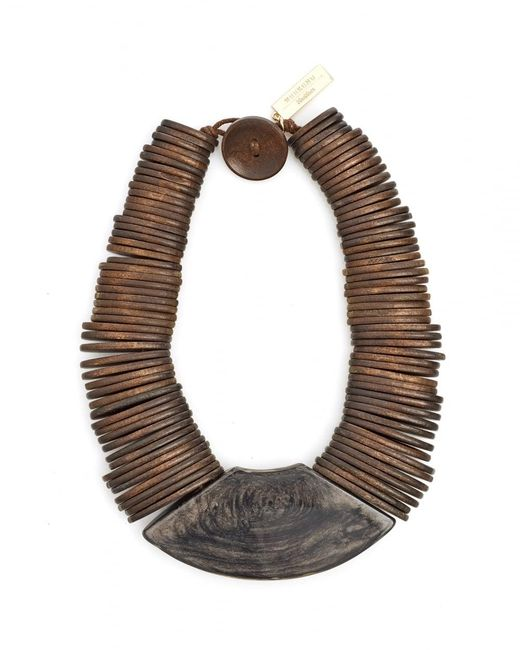 Weekend by Maxmara | Gamma Brown Wooden Necklace | Lyst
