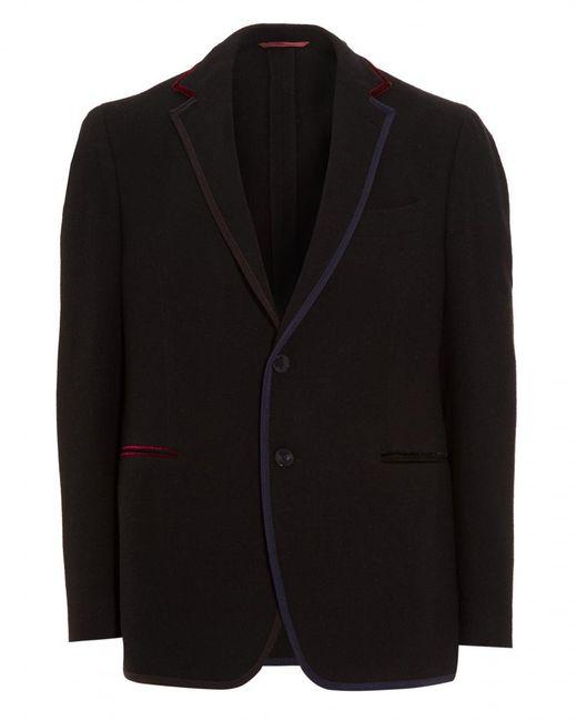 Etro - Blue Blazer, Contrasting Edges Jersey Navy Jacket for Men - Lyst
