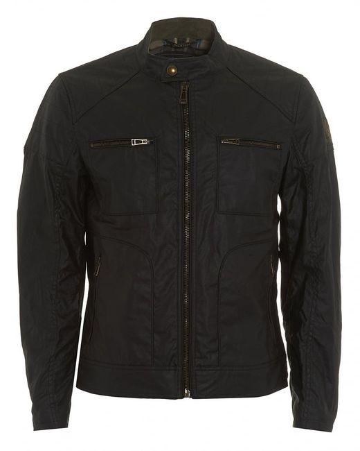 belstaff weybridge jacket black waxed jersey jacket in. Black Bedroom Furniture Sets. Home Design Ideas