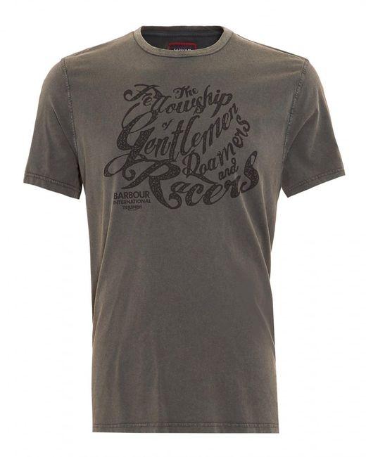 Barbour | Gray International Triumph T-shirt, Gentlemen Graphic Text Charcoal Tee for Men | Lyst