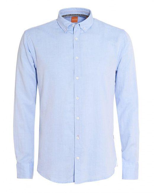 BOSS by Hugo Boss - Epreppy Shirt, Slim-fit Sky Blue Cotton Shirt for Men - Lyst