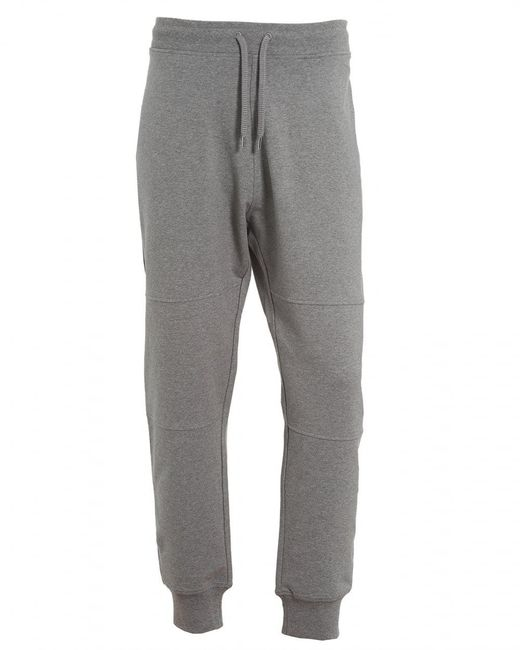 Love Moschino - Gray Cuff Trackpants, Back Pocket Badge Grey Sweatpants for Men - Lyst