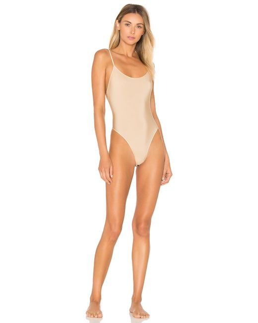 Only Hearts - Natural Second Skins Lowback Bodysuit In Beige - Lyst