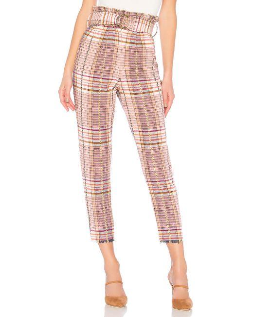 Tularosa - Pink Greyson Pant In Cream - Lyst