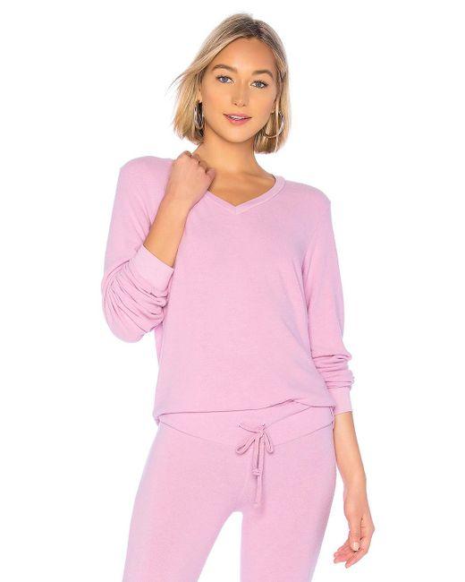 Wildfox - Pink Sudadera baggy beach v en color rosado - Lyst