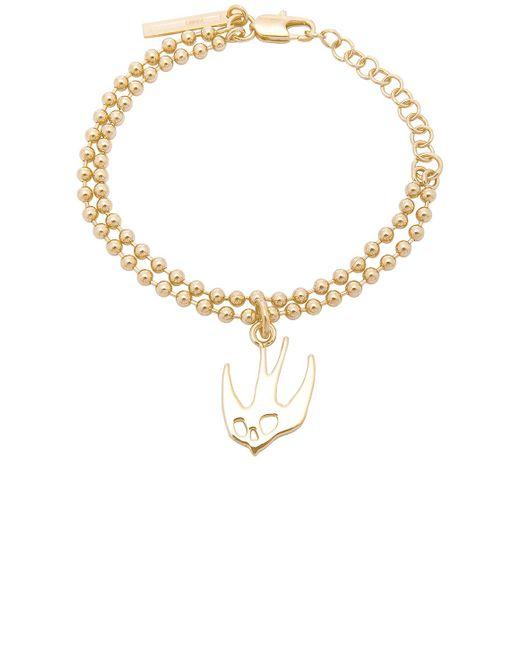 McQ Alexander McQueen   Metallic Swallow Bracelet   Lyst