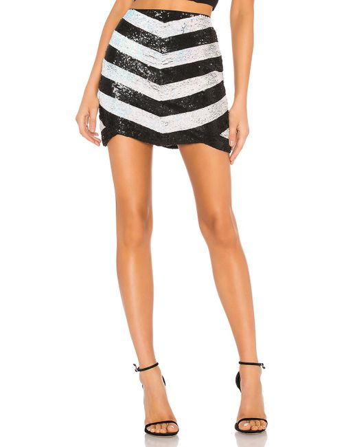 X By NBD - Black Stacy Embellished Mini Skirt - Lyst
