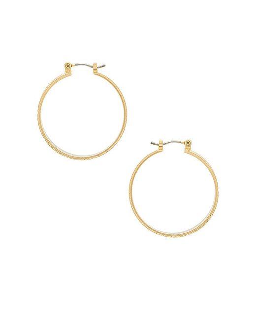 Hillian Hoops in Metallic Gold Vanessa Mooney U8bMf8k