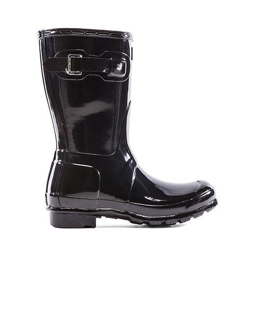 Hunter - Black Original Refined Gloss Rain Boots - Lyst
