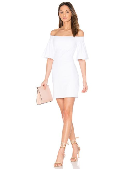 Susana Monaco - Flutter Sleeve Dress In White - Lyst