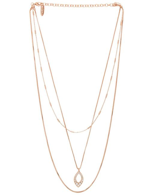 Luv Aj - Metallic The Pave Marquise Charm Necklace - Lyst