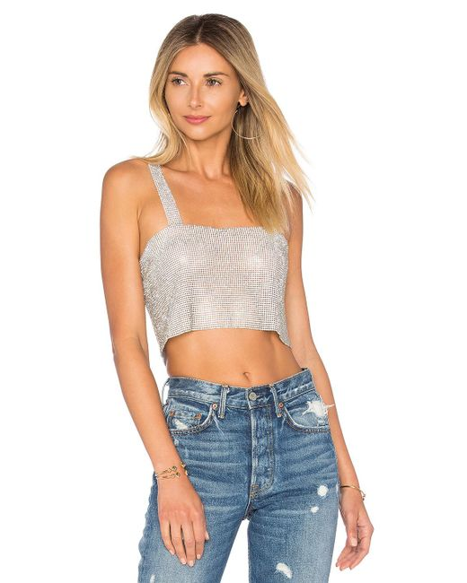 Frasier Sterling - After Party Tank In Metallic Silver. - Lyst