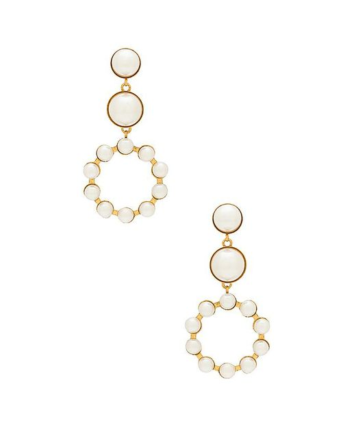 Elizabeth Cole - Marge Earrings In Metallic Gold. - Lyst