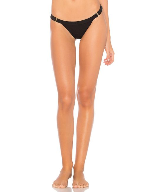 Beach Bunny - Black Rib Tide Bikini Bottom - Lyst