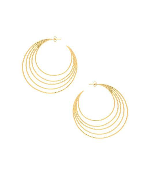 Gorjana - Casey Profile Hoops In Metallic Gold. - Lyst