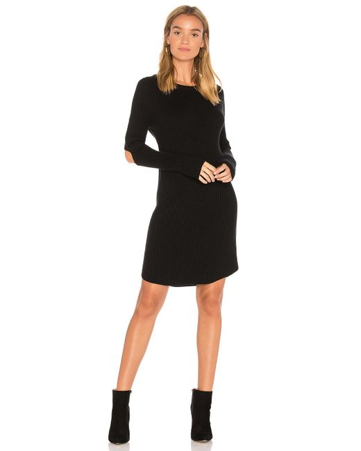 Monrow | Black Elbow Slash Sweater Dress | Lyst