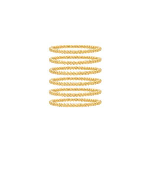Frasier Sterling - Metallic So Much Love Ring Set - Lyst