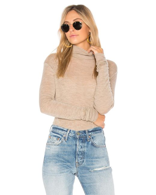 Vince   Natural Cowl Long Sleeve Tee   Lyst