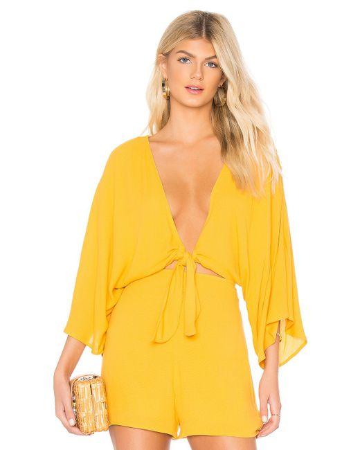 Rachel Pally - Yellow Reversible Tie Top - Lyst