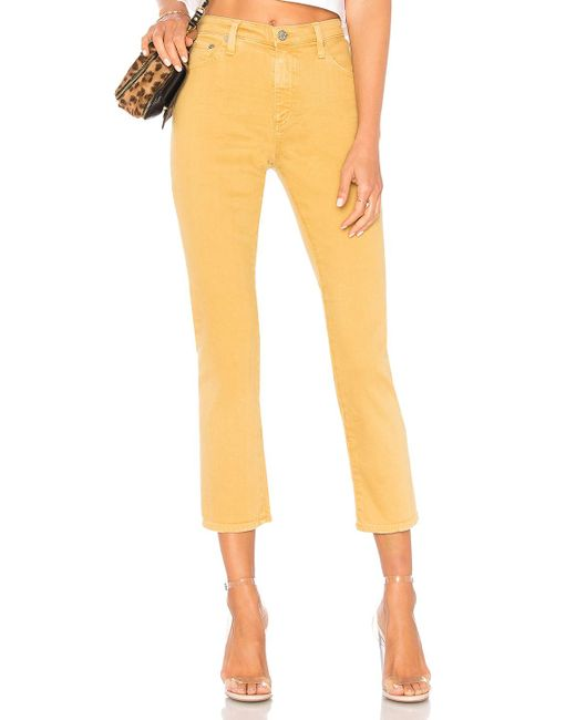AG Jeans - Yellow Isabelle Jean - Lyst