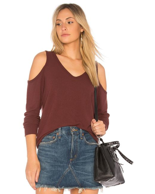 Michael Stars | Multicolor Cold Shoulder Sweatshirt | Lyst
