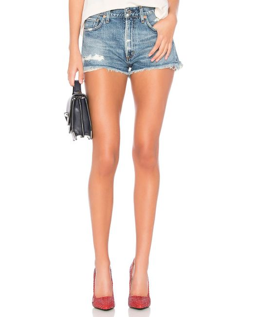 Citizens of Humanity - Danielle Cut Off Short In Blue - Lyst