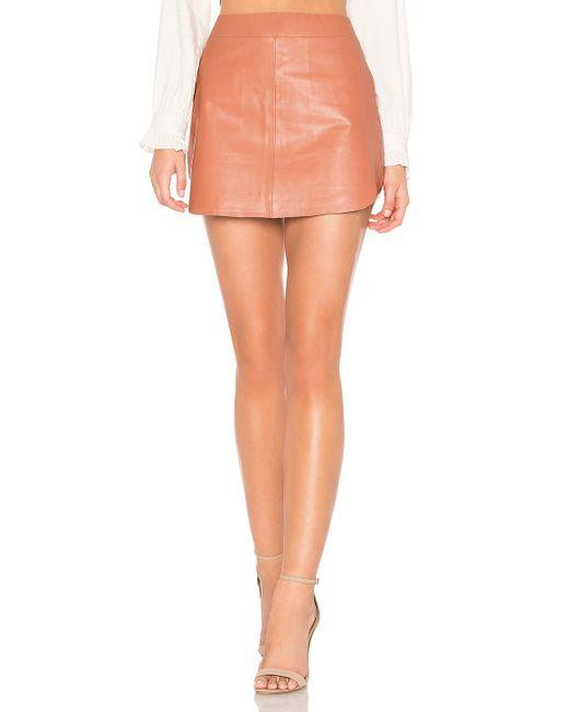 Karina Grimaldi - Pink Simon Leather Skirt In Rose - Lyst