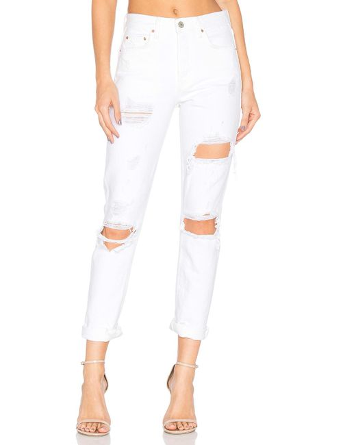 GRLFRND | White Karolina High-rise Skinny Jean | Lyst