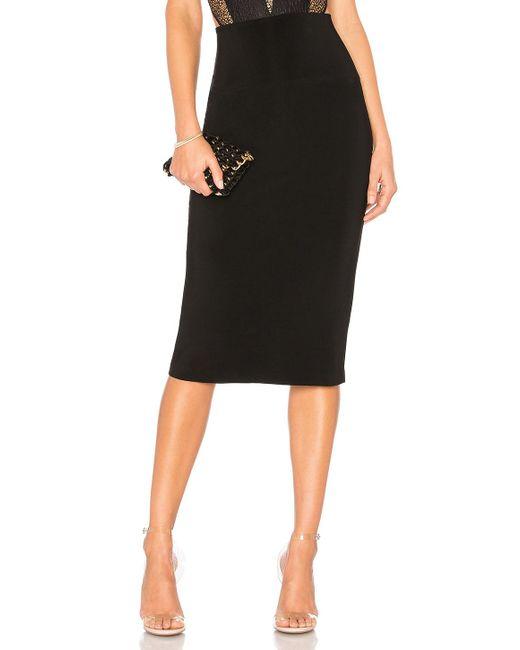 Norma Kamali - Black Straight Skirt - Lyst