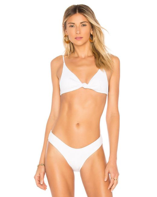 Minimale Animale - Multicolor The Perfect Knotted Rib Bikini Top In White - Lyst