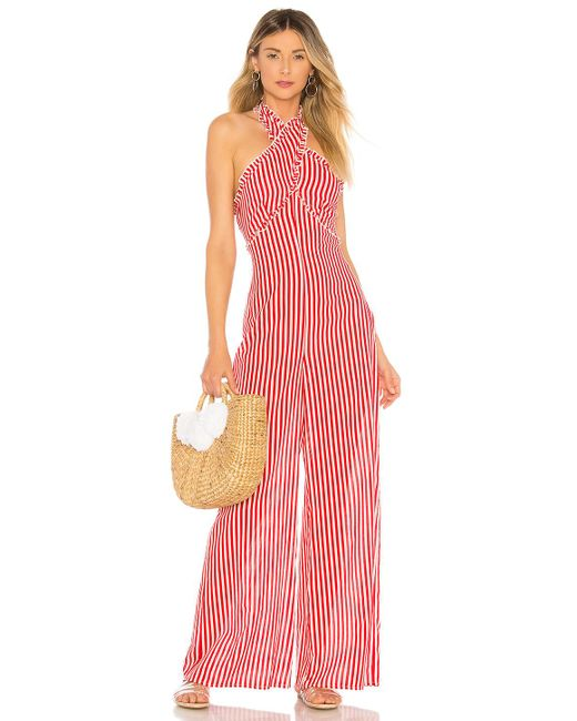 Tularosa - Jackie Jumpsuit In Red - Lyst