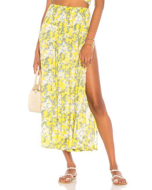 Tiare Hawaii - Yellow Rock Your Soul Maxi Skirt - Lyst